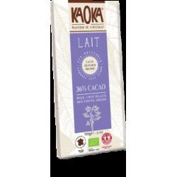 Chocolat lait kaoka equit...