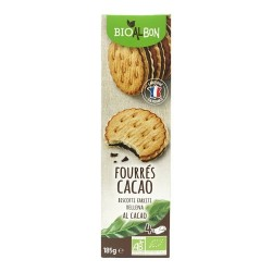 Biscuits fourés cacao 185g