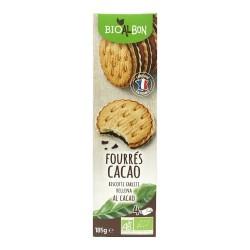 Biscuits fourrés cacao 185g